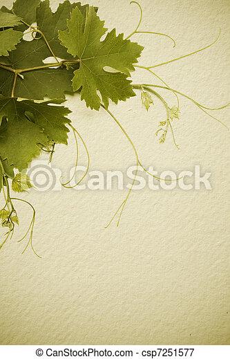 art  vintage style concept design for a wine list - csp7251577