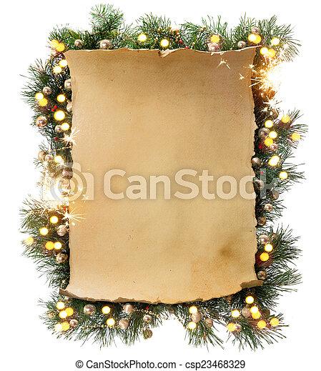 Art Winter Christmas frame  - csp23468329
