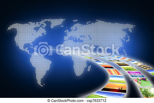 art work of travel business from landscape picture - csp7633712