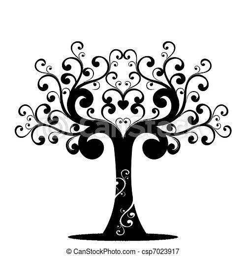 arte, árbol - csp7023917