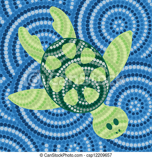 arte aborigena - csp12209657