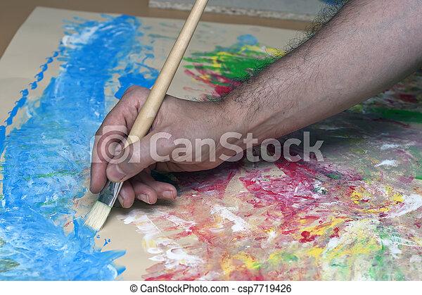 arte abstracto - csp7719426