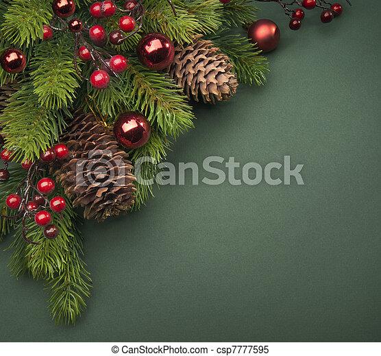 arte, cartão natal, saudação - csp7777595
