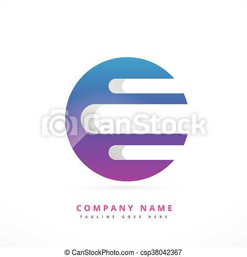 Diseño de plantilla de logo colorido abstracto - csp38042367