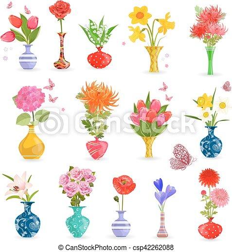 Arte D Coloridos Buquet Cobranca Vasos Flores Seu Arte