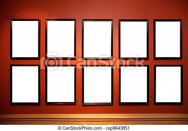arte, dentro, pictures., bianco, galleria, empy - csp9643851
