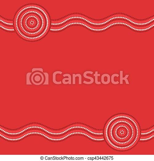 Arte aborigen australiano en formación vectorial. - csp43442675