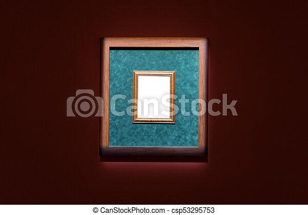 Arte, pared, museo, marco recargado, mínimo, design. Arte ...