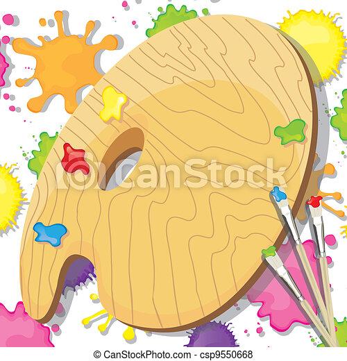 arte, pittura, festa, invito - csp9550668