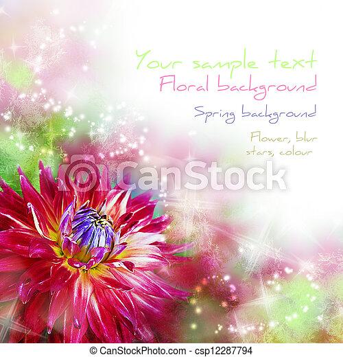 arte, primavera, abstratos, motivo, fundo, floral - csp12287794