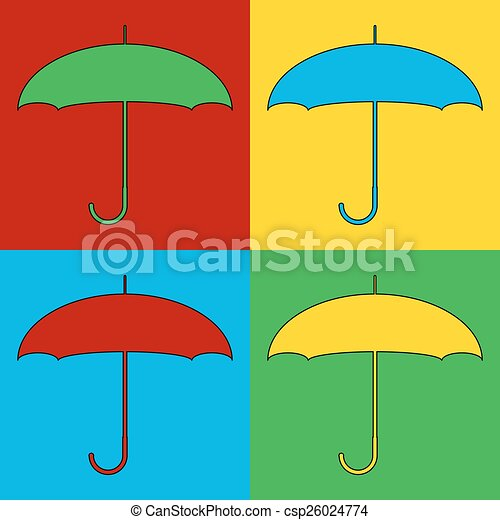 iconos de símbolo de arte pop. - csp26024774