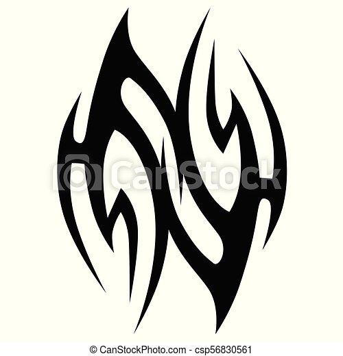 Arte Semplice Astratto Singolo Disegno Logotipo Tatuaggio