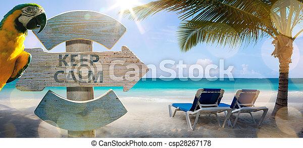 arte, vacanza, fondo, mare - csp28267178