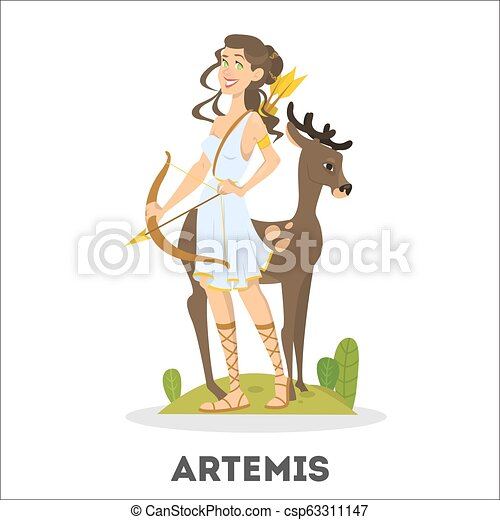 Artemis Greek Goddess From Ancient Mythology Female Character