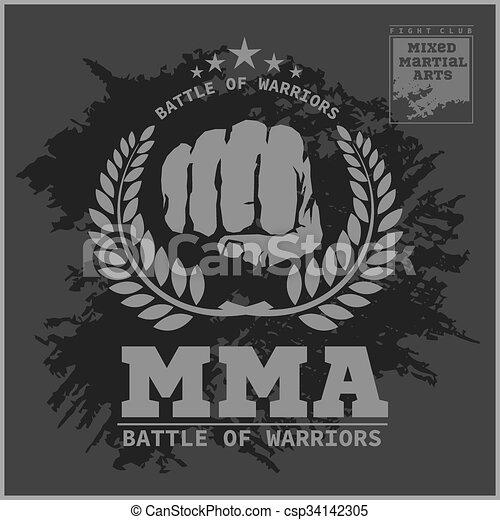 Club de lucha MMA artes marciales mixtas - csp34142305