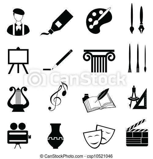 artes, conjunto, icono - csp10521046