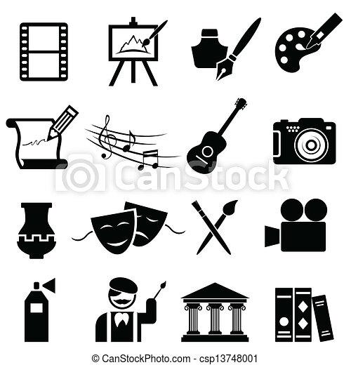 Bellas obras de icono de arte - csp13748001
