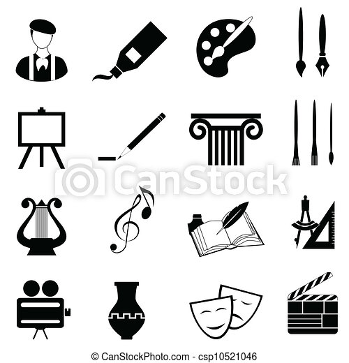 artes, jogo, ícone - csp10521046