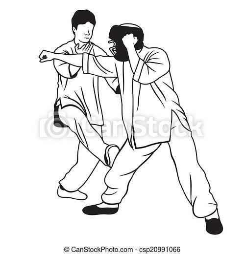 artes marciais, ilustração - csp20991066