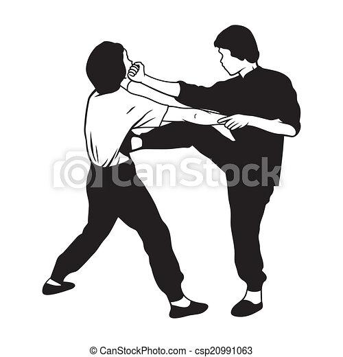 La ilustración de artes marciales - csp20991063