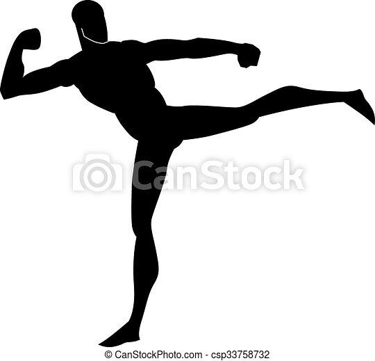 Artes marciales, ilustraciones - csp33758732