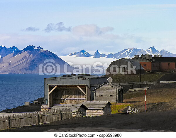 Artic rural housing landscape - csp6593980