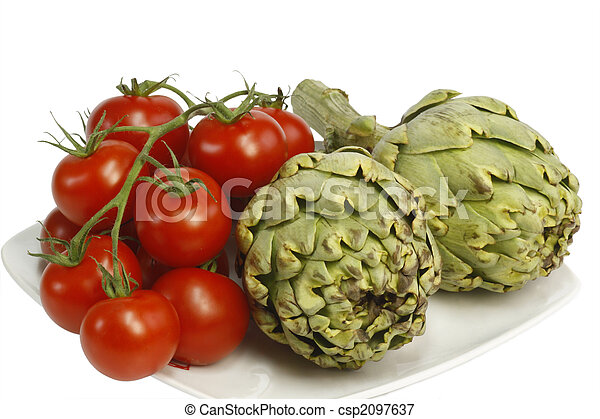 Artichokes and tomatoes - csp2097637