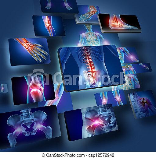 articulaciones, concepto, humano - csp12572942