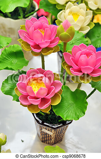 Artificial flowers beautiful bouquet of artificial lotus flowers artificial flowers csp9068678 mightylinksfo