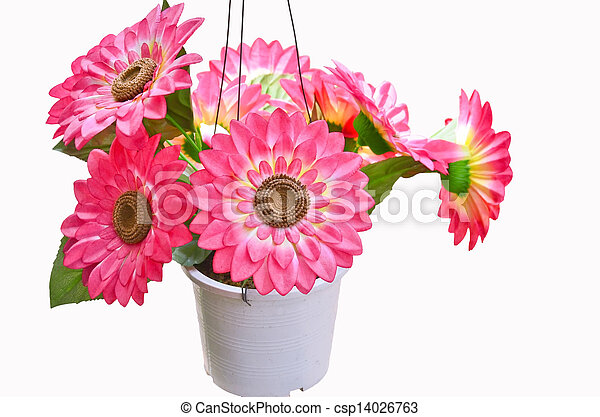 Artificial Flowers Pots  sc 1 st  Can Stock Photo & Artificial flowers pots.