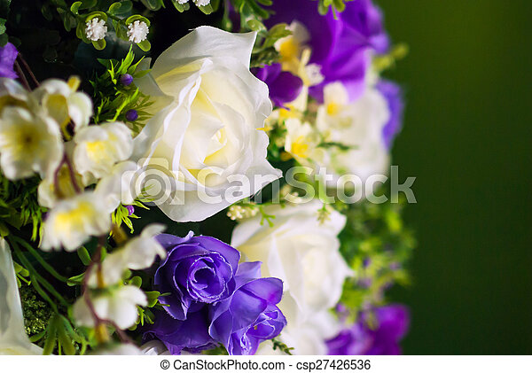 artificial flowers rose in soft light - csp27426536