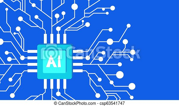 Artificial intelligence concept. Futuristic technology and robot brain - csp63541747