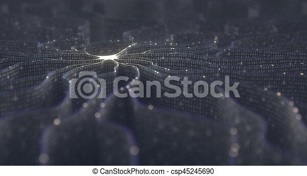 Artificial Intelligence Neural Network - csp45245690
