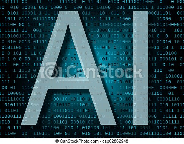 Artificial intelligence over binary background - csp62862948