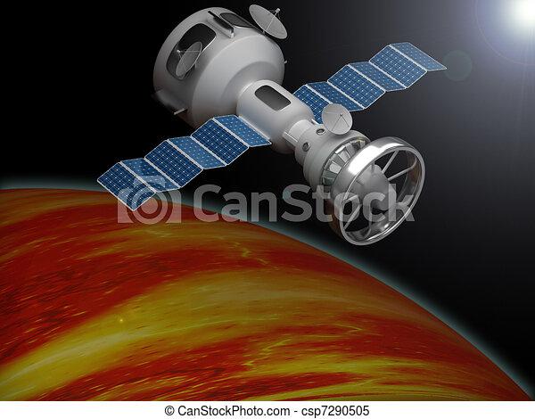 Artificial satellite  - csp7290505