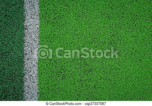 artificial turf of Soccer football field - csp37337087