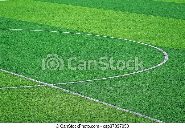 artificial turf of Soccer football field - csp37337050