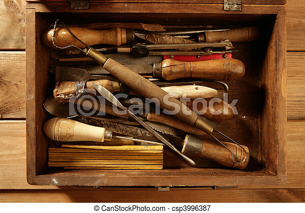 artist hand tools for handcraft works  - csp3996387