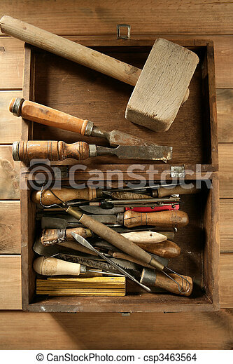 artist hand tools for handcraft works  - csp3463564
