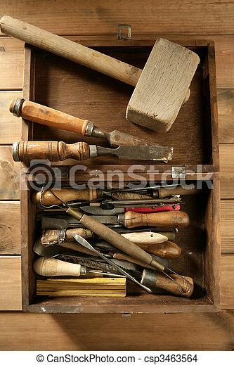 artist hand tools for handcraft works  - csp3463564