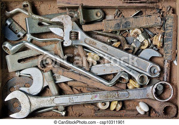 Artist hand tools for wood handicraft - csp10311901