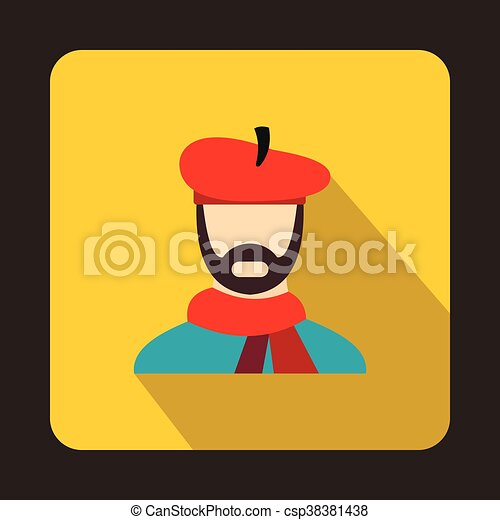 Artist icon in flat style - csp38381438