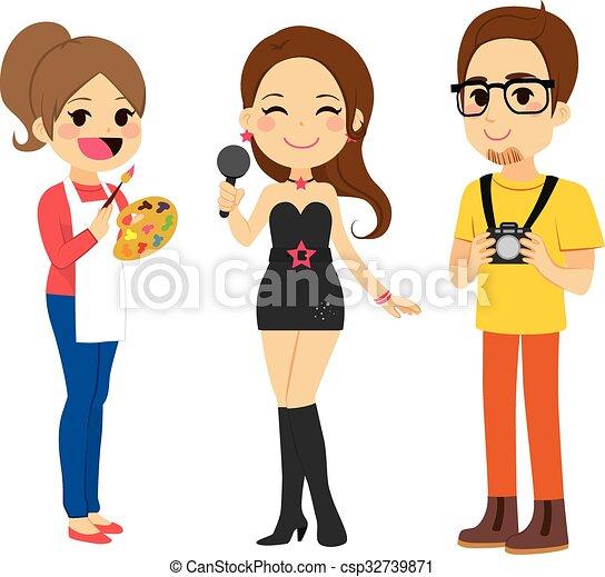 artista, giovani persone - csp32739871