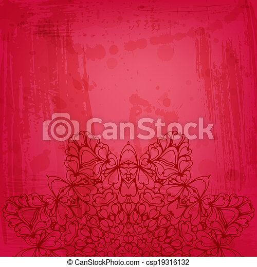Artistic abstract vector background with floral arabesque - csp19316132