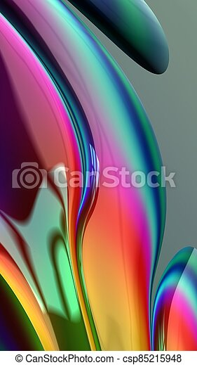 Artistic and imaginative digitally designed abstract 3D fractal background - csp85215948