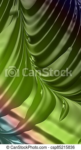 Artistic and imaginative digitally designed abstract 3D fractal background - csp85215836