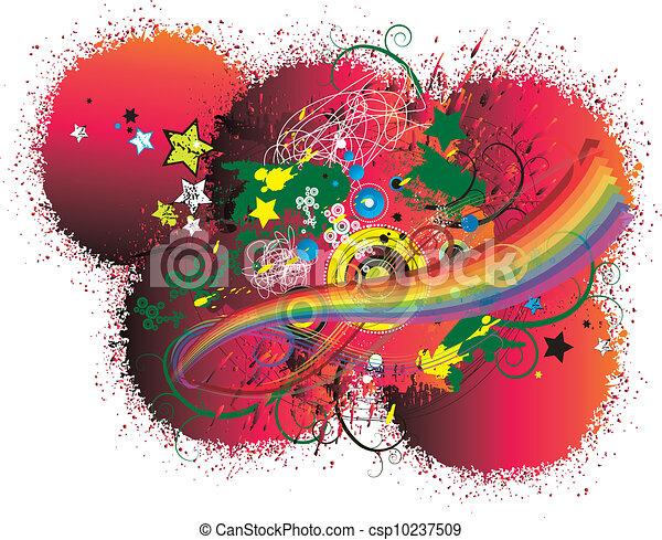 Artistic background - csp10237509