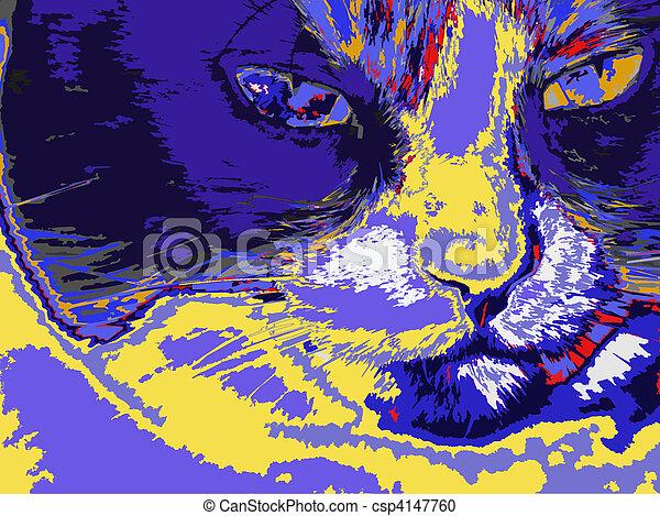 Artistic Cat - csp4147760