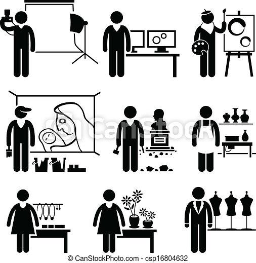 Artistic Designer Jobs Occupations - csp16804632