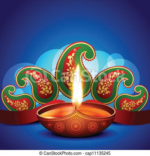 artistic diwali background - csp11135245